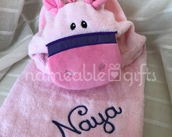 Hooded Towels, Personalized Baby Hooded Towel, Personalized Pony, Baby Hooded Towels, Baby Gifts, Personalized Baby Gift, Unique Baby Gifts