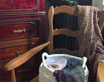 large crocheted basket