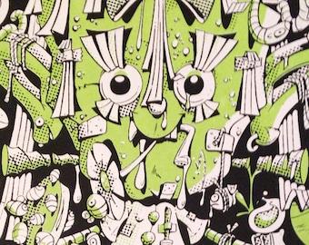 ELECTRIC FRANKENSTEIN screen print by Steven Cerio