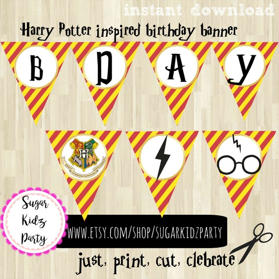 Harry Potter Banner Party Birthday
