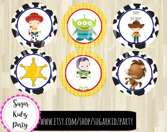 toy story, cupcake topper, woody party, toy story party, buzz lightyear, kids birthday, party toppers, cupcake, topper, cake topper,
