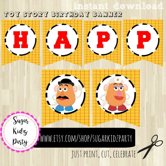 Toy Story Birthday Party Labels Printables