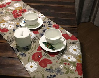 Linen Tablecloth, table top, table cover, Christmas Tablecloth, Christmas Table runner