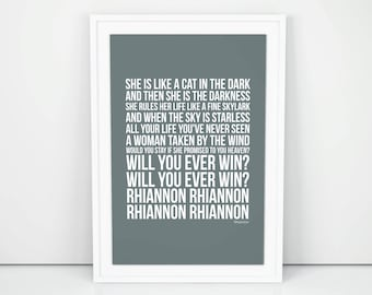 Rhiannon lyrics etsy more colors stopboris Gallery