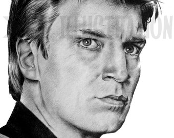 Limited Edition Malcolm Reynolds Firefly Art Print A4 Drawing Fine art Pencil Portrait Nathan Fillion