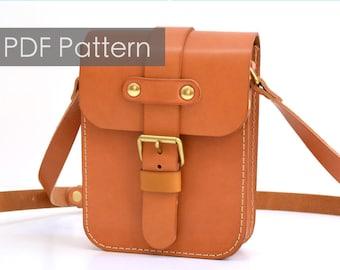 c543354a3536 Herz Leather Satchel pattern diy gift leather bag pattern Saddle bag  template Leathercraft Pattern PDF Pattern DIY pattern