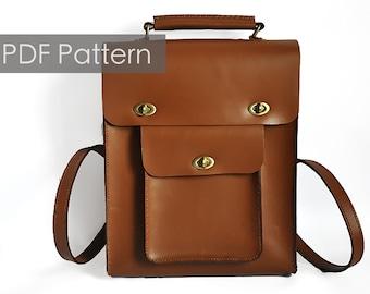 a1b00c0b3f26 Build you own diy gift Portrait backpack pattern Cambridge bag pattern Cambridge  satchel pdf pattern  leather bag pattern Saddle bagtemplate
