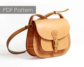 Leather Saddle bag pattern leather bag pattern Saddle bag template Leather Pattern PDF Pattern womens bag pattern DIY pattern purse pattern