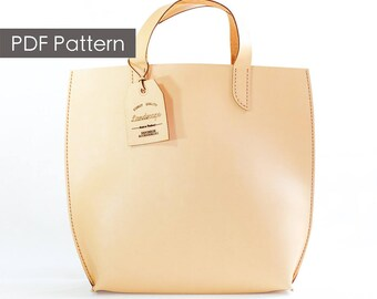 Build you own/diy gift/Leather tote pattern/Minimalist tote pattern/Pattern template/Leathercraft Pattern/PDF Pattern/everyday tote