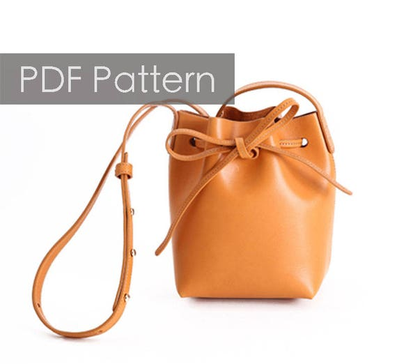 04f5c1b9cfa7 Build you own Bucket bag diy gift Leather bag pattern Shoulder