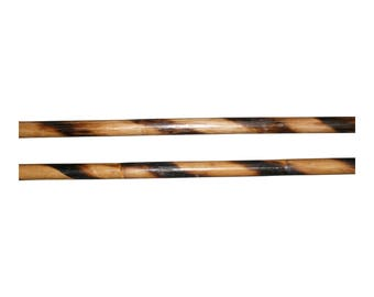 "WF052xA  2 Filipino Escrima Kali Arnis Deluxe Burned Fire Hardened Rattan Sticks 28"" x 7/8"" stickfighting martial arts"