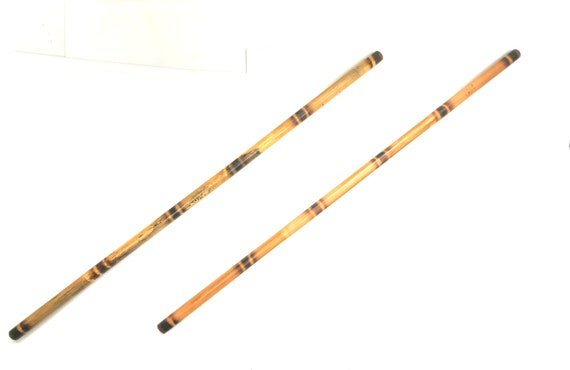 "2 Filipino Doce Pares Hardened Escrima Kali Arnis Rattan 1/""x28/"" Fighting Sticks"