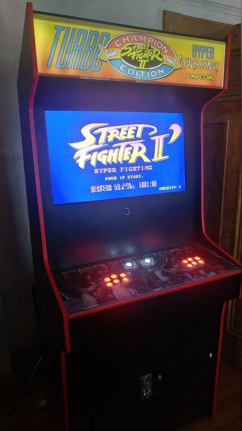 Super Street Fighter Ii Arcade Cabinet Machine 999 Games Etsy
