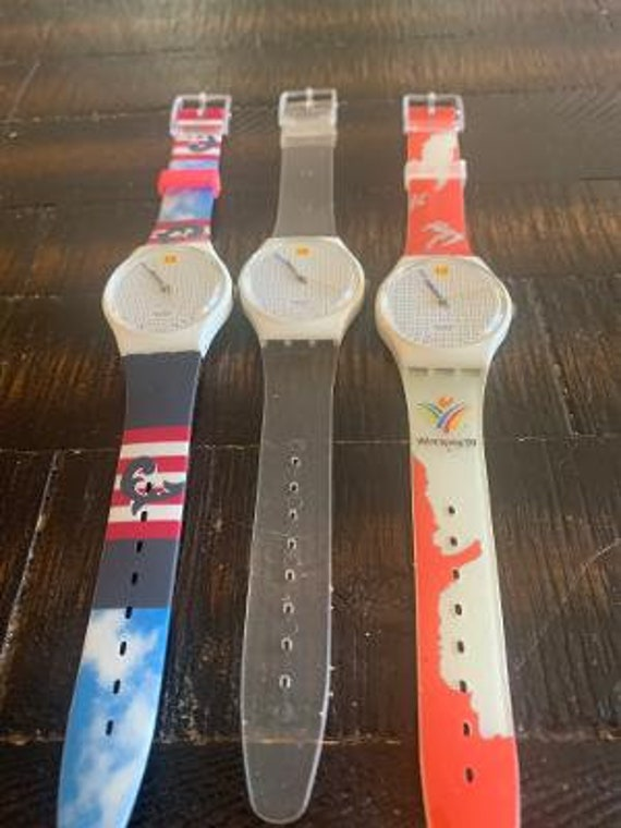 3 swatch watches preowned