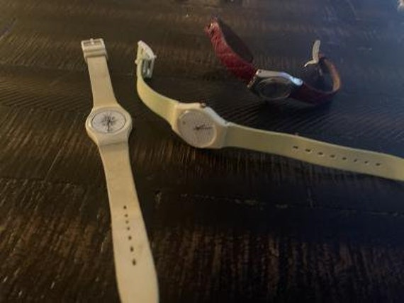 3 swatch watches preowned-ladies