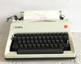 Olympia typewriter - German typewriter - Old writing machine OLIMPIA -  Writing machine - Portable typewriter - typewriter