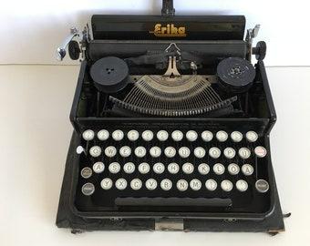 typewriter - Retro typing machine Erika 5 -  writing machine - Portable typewriter - Typewriter Erika Germany 40s - Vintage typewriter
