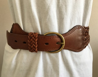 Le Donne Vintage Singola//Doppia Fibbia Cintura Western Donna PU pelle cucita in vita 25mm