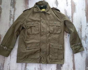 8dd75ae51 NEVER USED - Vintage canvas jacket - Vintage anorak - Survival clothing -  Military parka - Green canvas parka -Mountain jacket