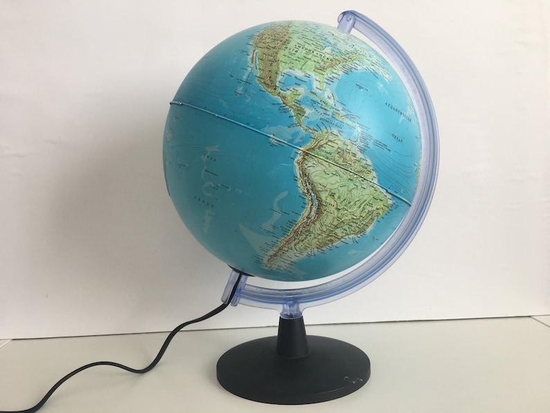 Wereldbol Met Licht : Vintage earth globe licht geografische wereldbol vintage etsy