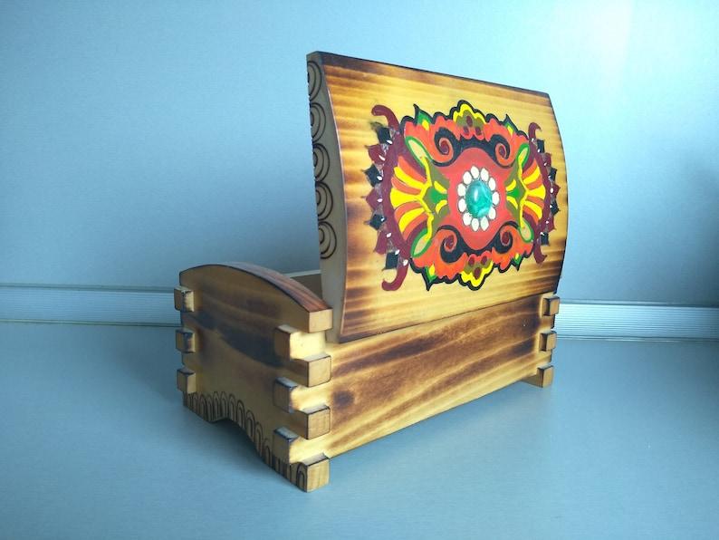 Home decor Vintage wooden box Jewelry box Vintage handmade wooden box Vintage box Vintage Pyrography box Retro box Memory Box