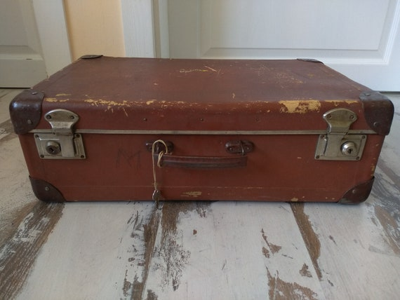 Antique suitcase - Vintage suitcase - Vintage Lugg