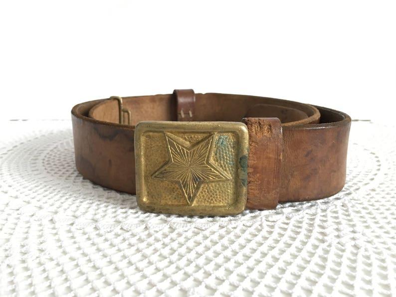Military Belt - Genuine Leather Belt - a soldier's belt - Soviet soldier's  belt - Vintage Leather Belt - Adjustable Belt - Mlitary Belt