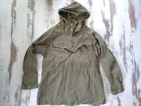 Vintage canvas jacket - Vintage anorak - Old green