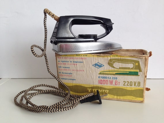 Old iron Home decor. Clothing iron Vintage iron Working iron Electric iron from 60s Electrical iron Retro iron Gift for her