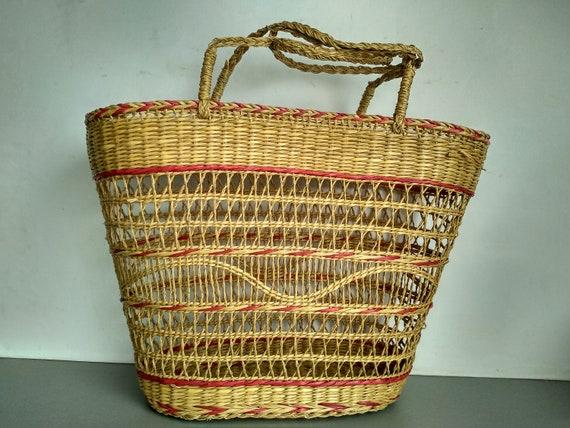 NEVER USED - Straw basket bag - Straw bag - Summer