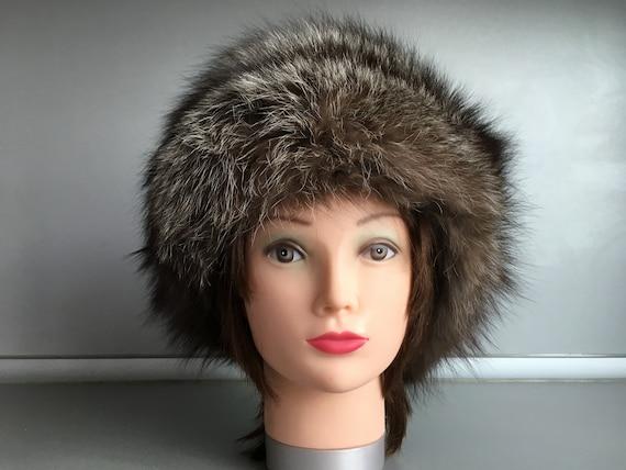 Real fox fur hat - Russian style fox fur hat - Fox