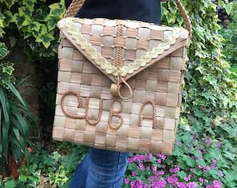 Vintage Straw Bag - Straw basket - Summer carrycot bag - Beach bag - wicker bag - market kids bag - Vintage straw bag - woven straw bag