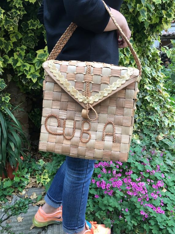 Vintage Straw Bag - Straw basket - Summer carrycot