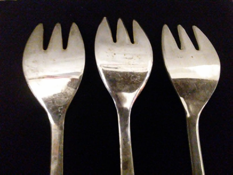 Silver and Silver Plated Horderves Forks
