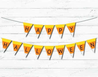 Printable Halloween Candy Corn Banner
