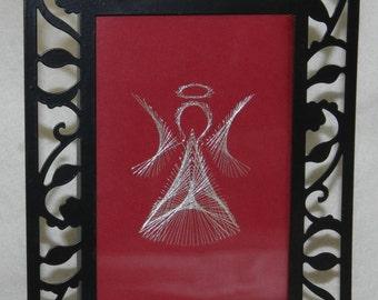 Framed Embroidered Angel