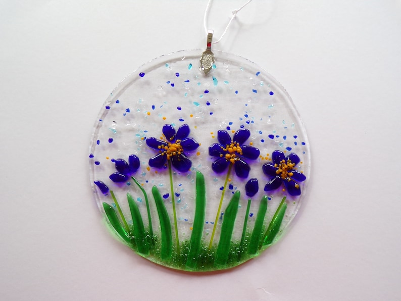 temp. out of stock Floral Forget Me Not Sun Catcher