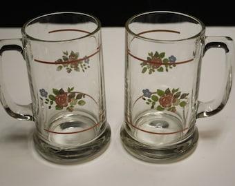 MISSION FLOWER Pfaltzgraff 16 Oz Cooler Beverage Glass