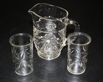 Anchor Hocking Mini Pitcher and Glasses