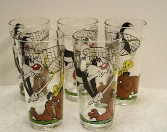 Vintage Warner Brothers Iced Tea Glasses