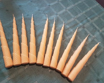 Rolled pillar candles 10 pieces