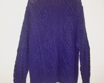 Vintafe 1990's Express Cable Knit Oversized Sweater