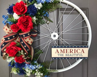 Patriotic 4th of July porch decor is some of my favorite home decor to shop for! Etsy is an especially great spot to find unique decor finds--and that includes patriotic porch decor. You can't go wrong with this patriotic wreath.