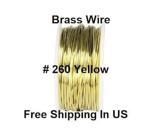 900 Ft. Spool // 10 Oz 26 Ga Solid Yellow Brass Jewelry /& Craft Wire SOFT