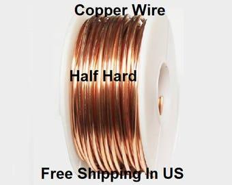 24 Ga Solid Copper Half Hard Round Wire 1 Oz 56 Ft Coil Wire Wrapping Copper