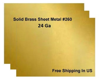 24 Ga Solid Brass Sheet Metal / One Side Is Covered With PVC To Prevent Scratch
