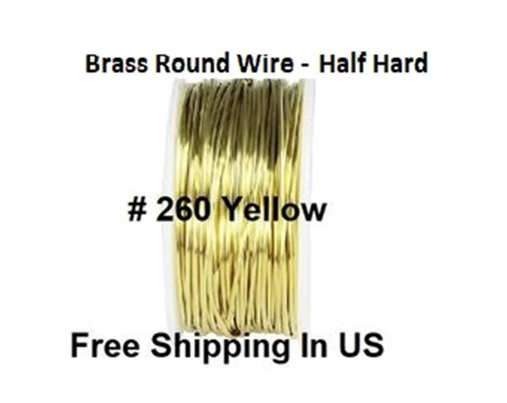 22 Ga Solid Yellow Brass Jewelry /& Craft Wire HALF HARD 36 Ft Coil 1 Oz  #260