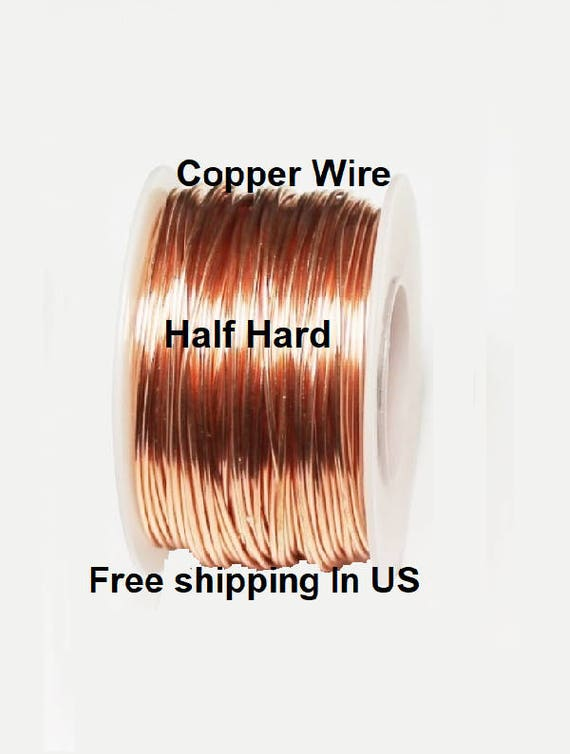 COPPER WIRE SPOOL GENUINE SOLID  COPPER 14GA  1//4 LB SOFT 20 FT