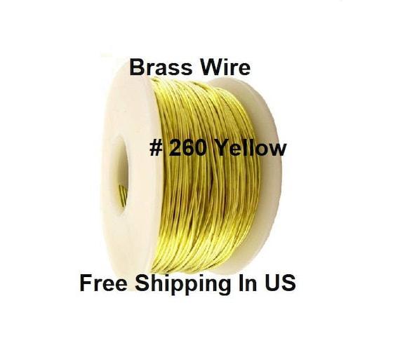 12 To 26 Ga Half Hard 5 Oz. Spool Or Coil // Yellow Brass Wire Round