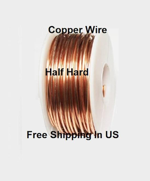 GENUINE SOLID COPPER COPPER ROUND WIRE Dead SOFT 30 GA 1//2 OZ Coil  110 FT
